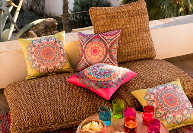Mandala collection features mandala prints for a colorful look