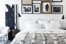 04 The bedroom is done with glam touches, art and Moroccan items
