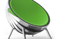 04 The chair is covered with soft cushioning inside to make sitting there more comfortable