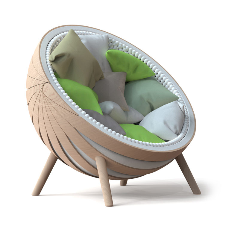 You may fill the chair with soft cushions inside to make sitting in it even cooler