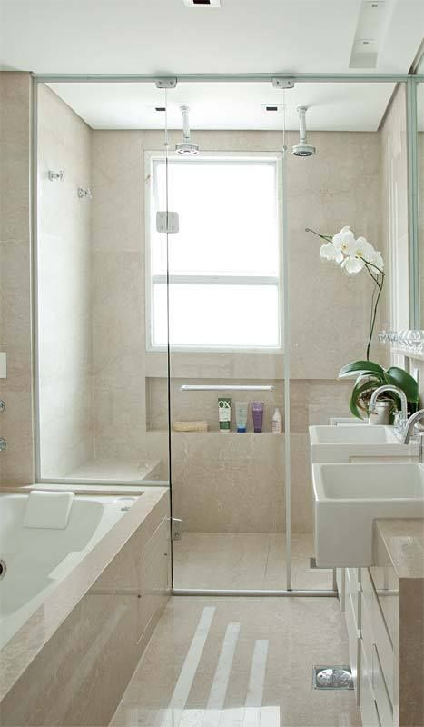 bathroom with a storage niche