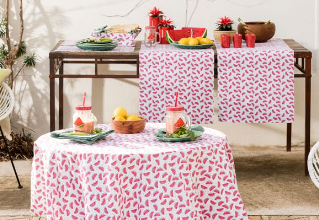 Sandia collection is done with watermelon prints