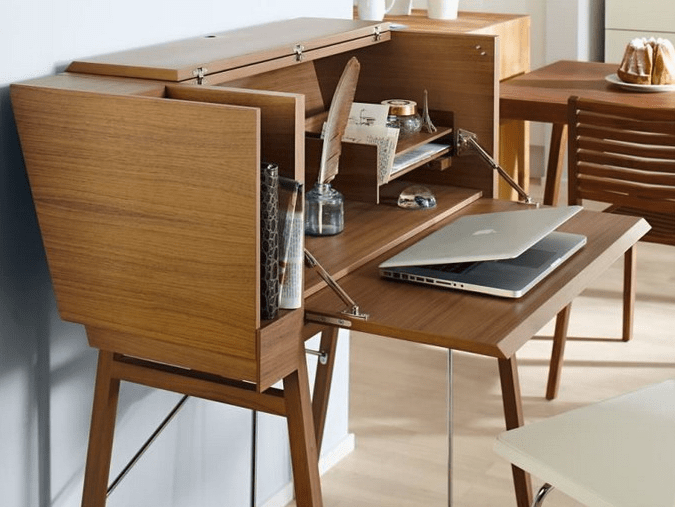 There's also space for a bureau, which is used for working