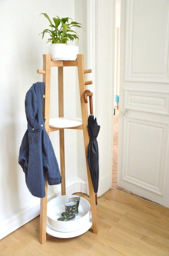 a functional and stable coat rack accommodates everything you need