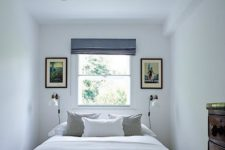 13 get a couple of sconces on both sides and you won't need bedside tables for lamps