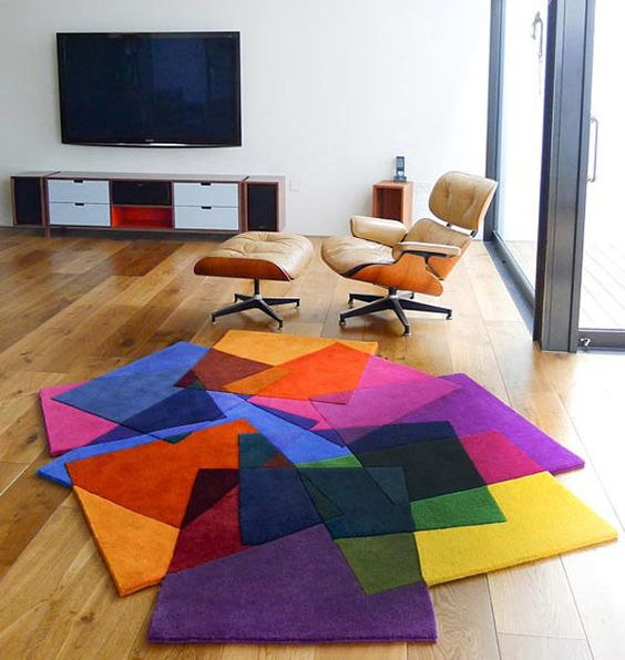 besides, a colorful and stylish rug can be a nice decor element
