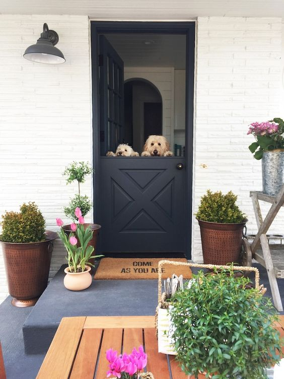 keep your pets at home while having breezes and fresh air inside with a comfy Dutch door