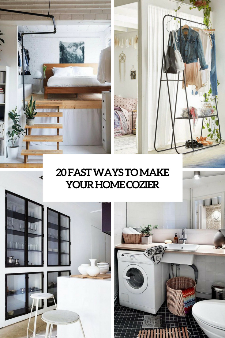 fast ways to make your home cozier cover