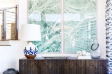 22 a couple of oversized ocean water photos is right what you need to make a bold statement