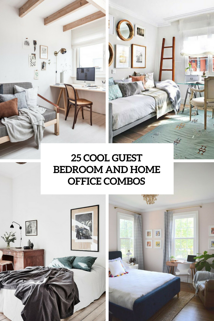 cool guest bedroom and home office combos cover