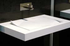 01 Add an architectural and quirky touch to your bathroom with Floating Lotus Sink and its unique shape