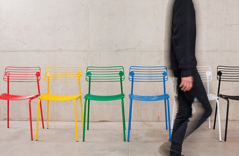 Hache Chair comes in a range of bright colors and can be customized according to your needs