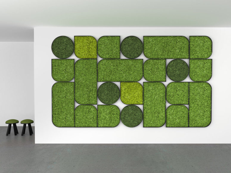 Bold Acoustic Wall Panels Of Reindeer Moss