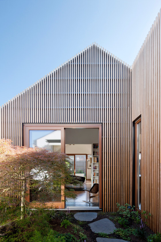 This House In House contains five distinct pavilions with different functions