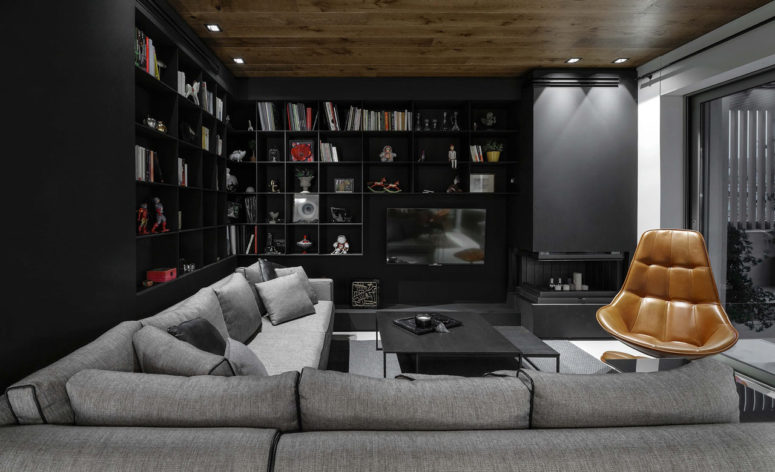 Contemporary Moody Apartment In Grey And Black