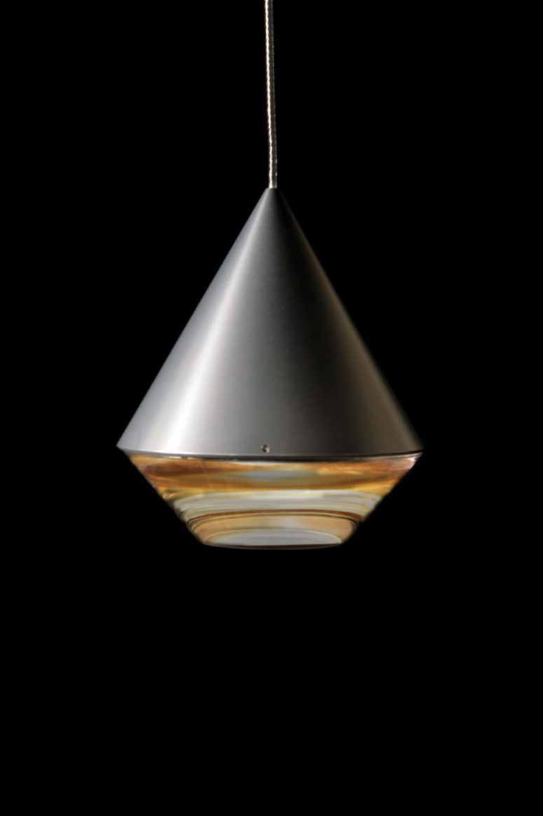 creatively shaped pendant lamp