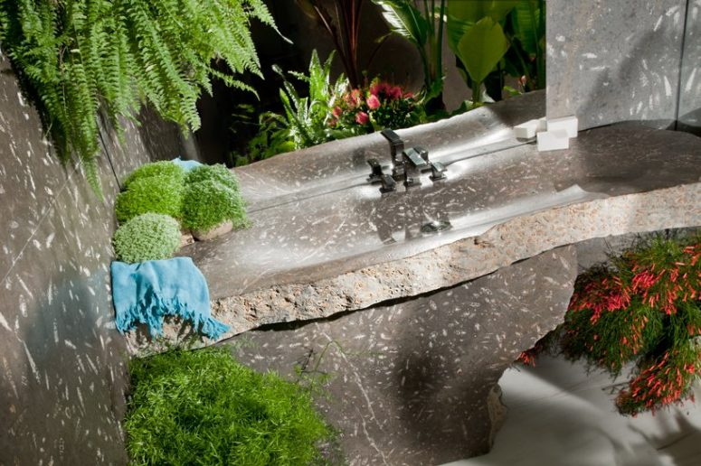 Such a sink is sure to add a spa feel to your bathroom