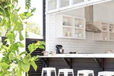 gorgeous indoor-outdoor home bar design