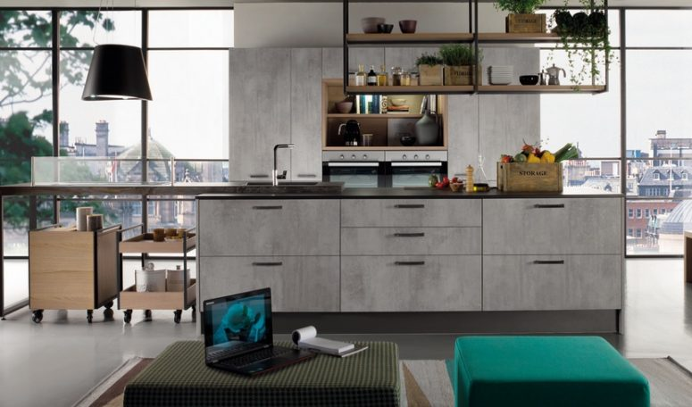 Etna represents laminate, concrete and a modernand a bit industrial look