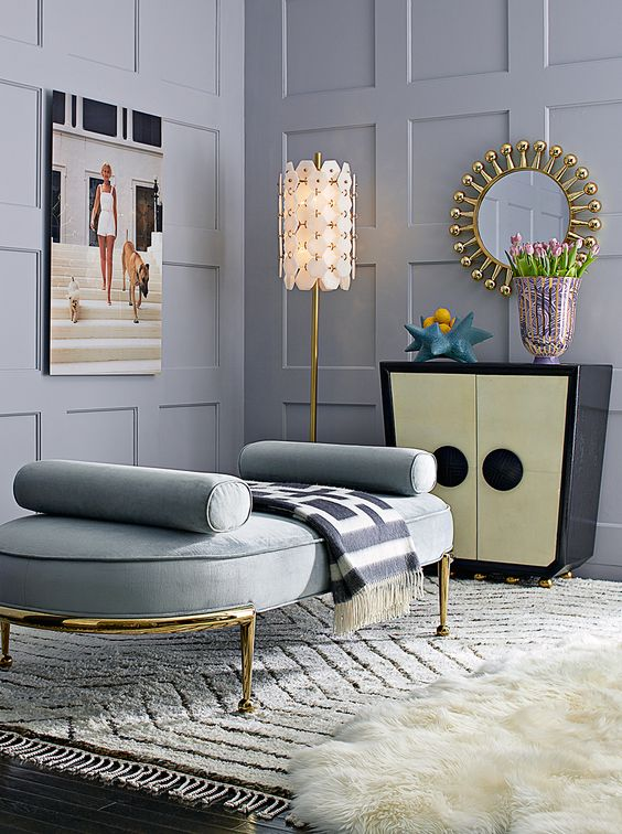 eye catchy grey wall panels make this elegant space even more elegant and welcoming