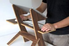 04 such a simple and chic walnut stand can be used in any space and you may take it with you