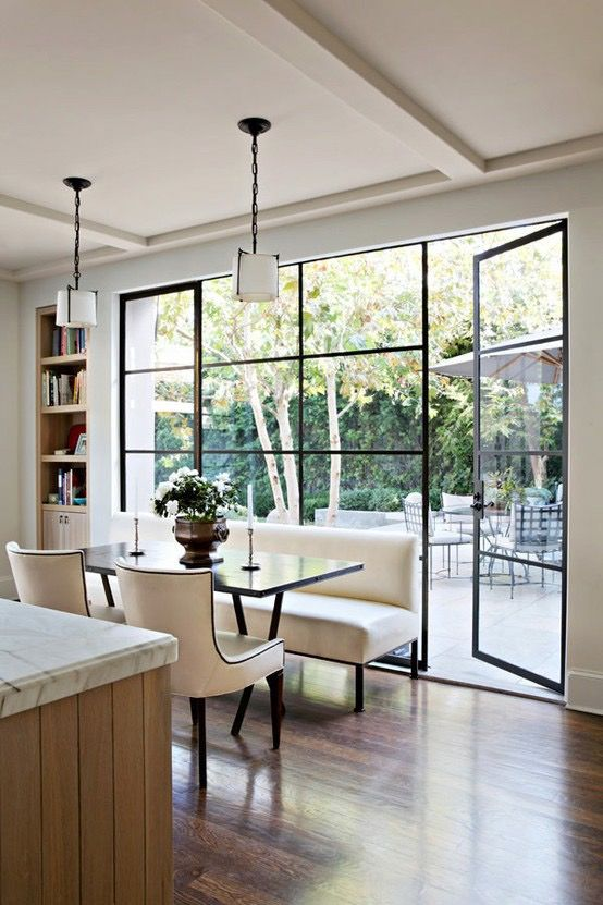 floor to ceiling windows are the best idea to connect indoors to outdoors and enjoy the views