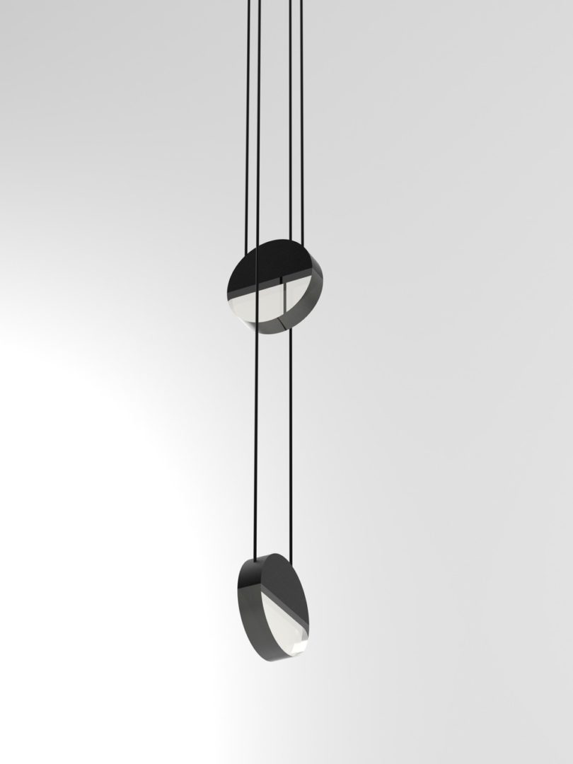 Balance luminaires can be hung in clusters for a cooler look