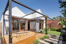 outdoor deck design in minimalist style
