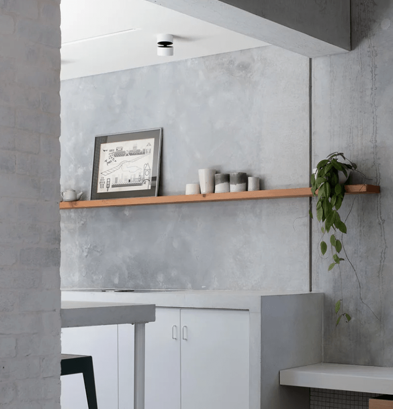 Kitchen Decoration With Waste Material: Peaceful Minimalist House With Raw Materials Decor