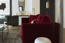 08 burgundy is great to pair with metallics, especially gold touches, for a refined look