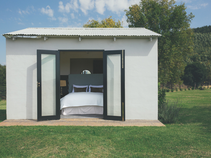The spaces are opened to outdoors as much as possible with doors