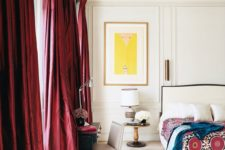 09 you may add a chic feel to the space with burgundy curtains, which is a simple way to add color