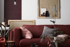 10 a moody living room with shades of plum and burgundy for a bold and creative look