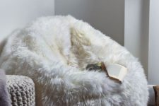 12 a faux fur bean bag chair is right what you need ot feel comfortable in the cold seasons