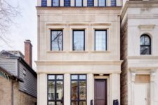 15 a chic vintage-inspired home with a blue shingle mansard roof looks really wow and inspiring
