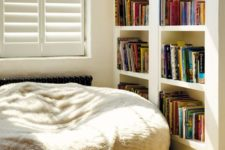 16 spruce up a reading nook with a large furry bean bag chair and make the space more informal and comfortable