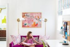 19 highlight a girl's space with magenta and bright green touches for a cheerful feel