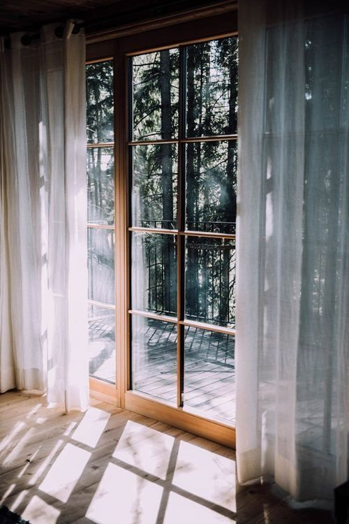 light curtains are welcome to make your space more private when needed