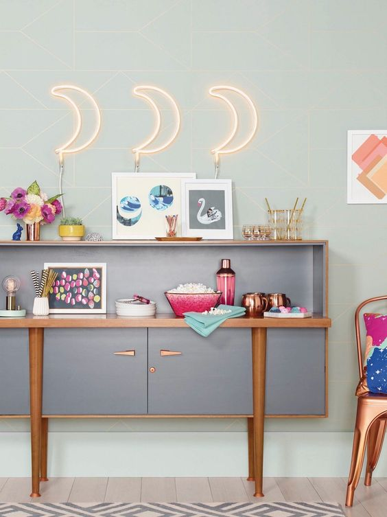 your bar space can be made brighter and funnier with crescent moon neon lights or any other neon lights you like