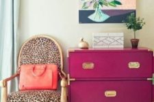 leopard upholstery to add glam to a space
