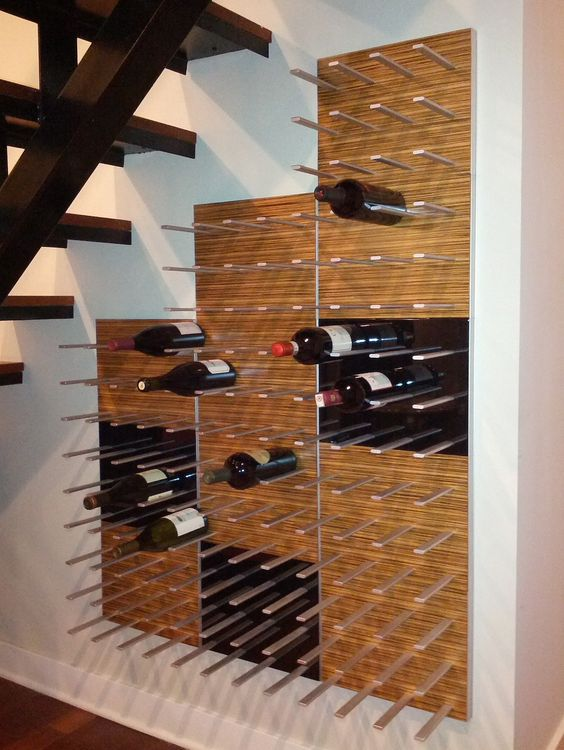 21a modern wine shelf mounted to the wall can holder a lot of bottles and they will be at hand