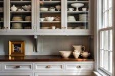 vintage kitchen design with wooden countertops