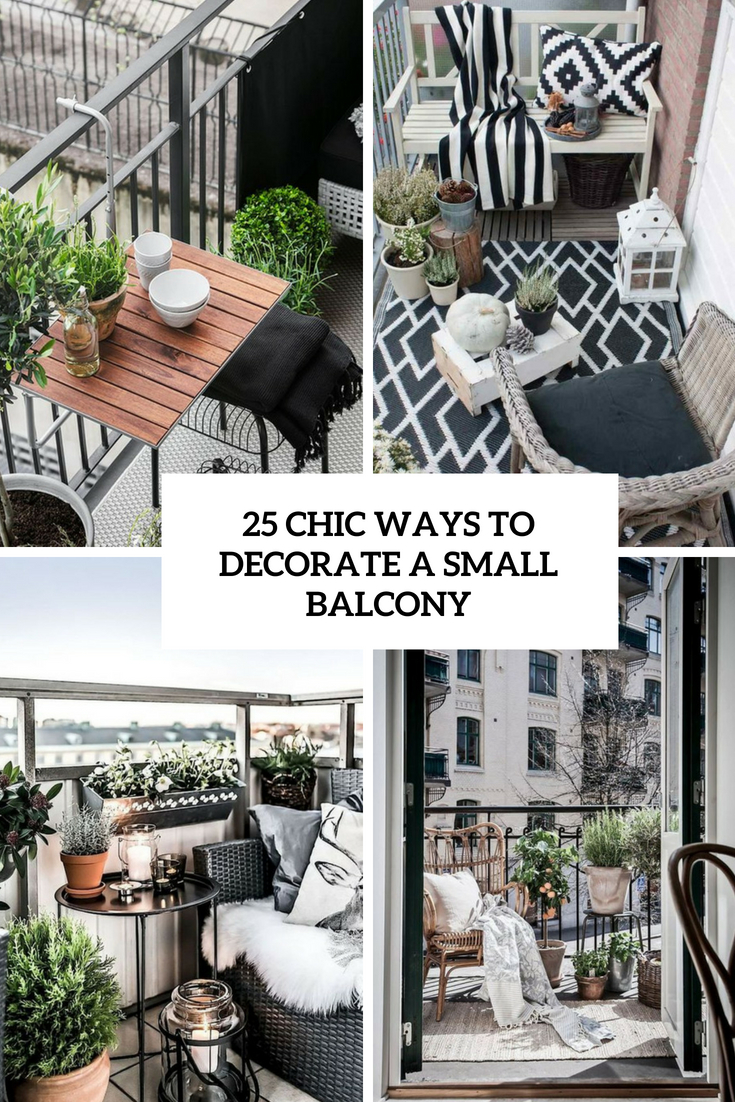 chic ways to decorate a small balcony cover