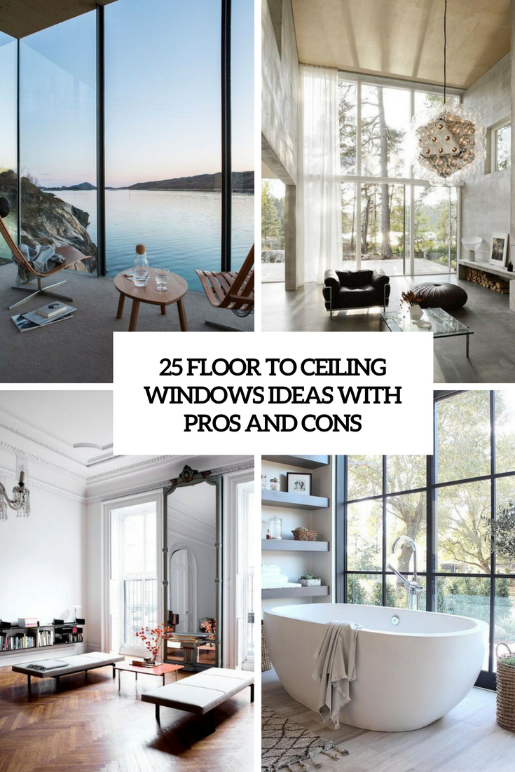 floor to ceiling windows ideas with pros and cons cover
