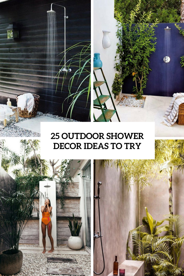 outdoor shower decor ideas to try cover