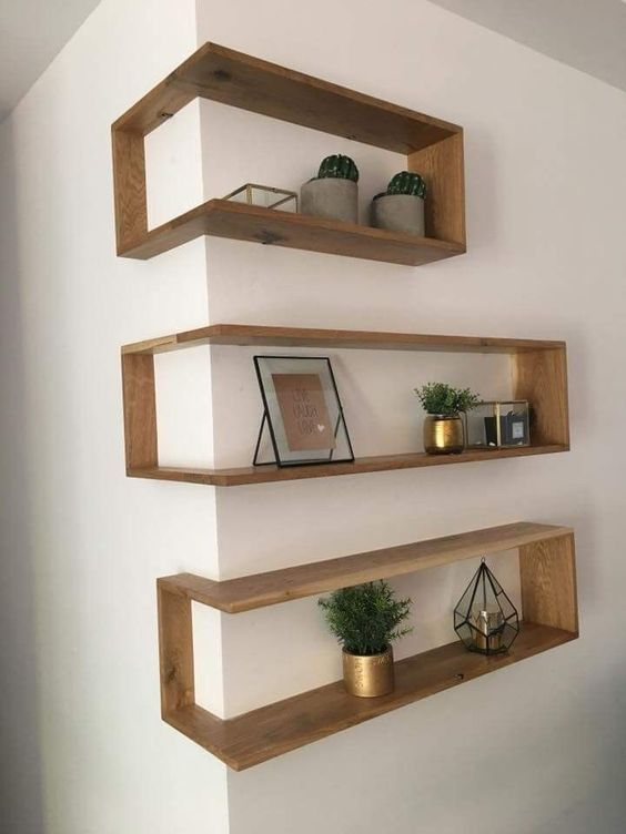 make maximum of a corner attaching box shelves here and get more storage