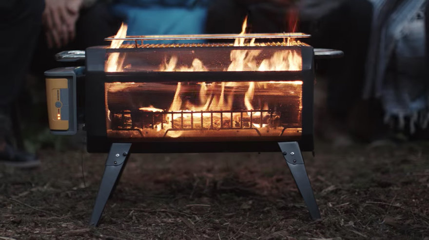 portable firept with transparent sides