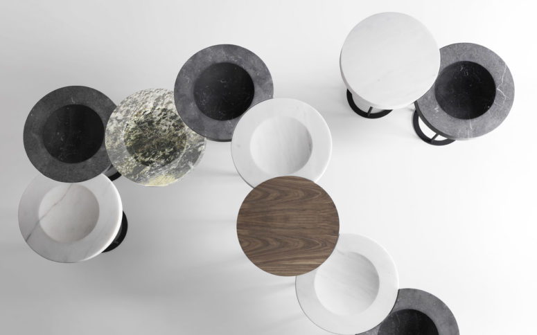 New Moon table is a unique and elegant item inspired by the moon and its phases and showing them off with its design