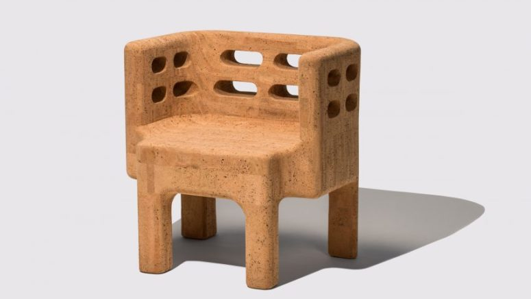 Sobreiro furniture collection is all made of cork, a sustainable and versatile material