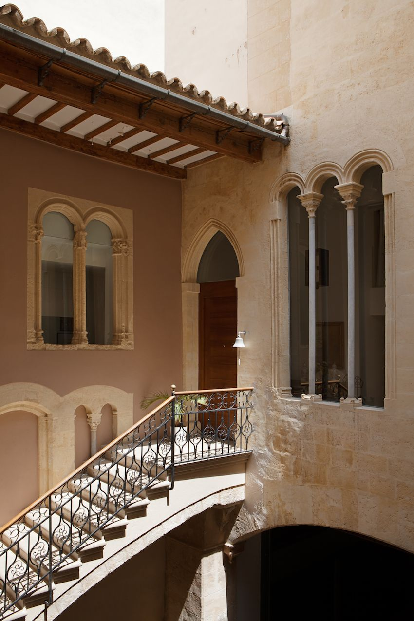 This gorgeous home was built by a Genoa pirate in Mallorca in the 16th century and has recently been renovated for the new owners